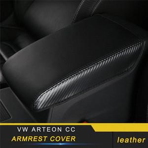 VW Arteon CC Araba Şekillendirme Deri Kolçak Kutusu Paneli Koruyucu Kapak Pad İç Aksesuar İç Aksesuar Fyor # için