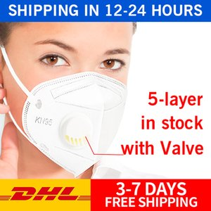 Disposable Face Masks With Breathing Valve Fabric Dustproof Windproof Respirator Anti-Fog Dust-proof Outdoor Mask DHL Free Ship