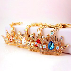 Korean Version Of Creative Diamond-studded Crown Modeling Car Key Chain Ladies Bag Accessories Metal Pendant Key Chain Gift