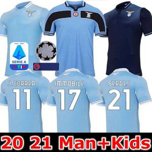 20 21 Lazio Futebol 120º Aniversário 2020 2021 Maglie IMMOBILE LUIS ALBERTO BASTOS SERGEJ casa terceiros homens crianças kit camisas de futebol
