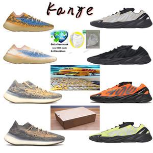 2020 carbone bleu 700 aimant réflexion inertie tephra chaussures de course statique solide gris Kanye West lavande chaussures de sport féminin styliste masculin