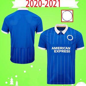 브라이튼 & 호브 앨 비언 축구 유니폼 2020 2021 MAUPAY TROSSARD CONNOLLY MURRAY JAHANBAKHSH PROPPER 성인 키트 남성 20 21 축구 셔츠 홈 블루