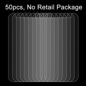 50 PCS 5.3 inch Mobile Phones 0.26mm 9H Surface Hardness 2.5D Explosion-proof Tempered Glass Film, No Retail Package