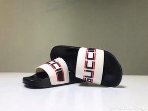 Gucci sandals Progettista Männer Frauen Sandalen mit Correct Blumen-Staubbeutel Schuhe Schlangendruck Slide Sommer Weit Flache Sandalen Slipper
