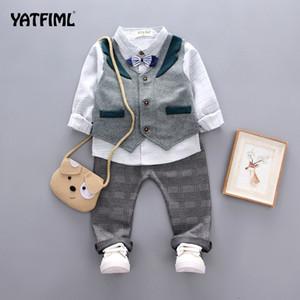 YATFIML Baby Clothes Boys suits for wedding Kids British Wind Birthday Dress Boygentleman suit Children clothing S200113
