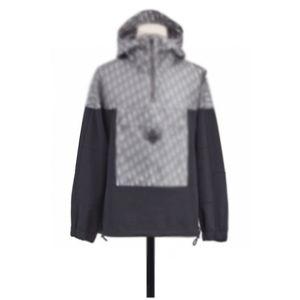 20SS inteira Imprimir Meio Zipper com capuz Jacket Brasão Casual Windbreaker Outwear Hoodies Jacket HFYMJK327 Homens Mulheres emenda Fashion Street