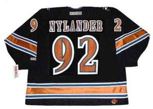 Michael Nylander Washington Capitals 2002 CCM Vintage Zuhause-Turn Back Hockey Jersey Alle genähtes Top-Qualität irgendein Name Jede Zahl