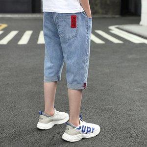4AIJ2 d'été pour les enfants short denim garçons neuf neuf cheville longueur Shorts Pantacourt 2020 moyennes et grandes pantalons pour enfants Capri coréen s