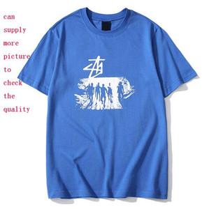 Мужские Стилисты T Shirt Лето дышащий Сыпучие футболки для мужчин и женщин Пара Мода Дизайн хип-хоп Streetwear Топы Тис