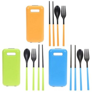 Outdoor 3 In 1 Folding Tableware Environmental Abs Material Cutlery Set Chopsticks Spoon Fork Camping Travel Hiking And Camping Campin lyXe#