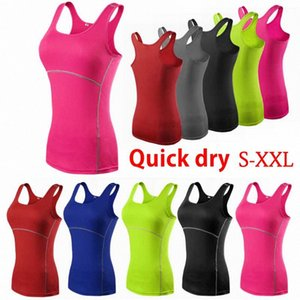 Frauen-Sportweste Compression Quick Dry Yoga Sport Shirts Weste Strumpfhosen Base Layer Gym Lauf Quick Dry Tank Top S QP1W #