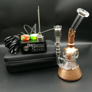 E digital del clavo esencial vaporizador de aceite calentador kit completo bobina cuadro PID con la última 7.5