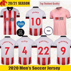 20 21 شيفيلد يونايتد لكرة القدم الفانيلة قميص McBURNIE 2020 2021 MOUSSET LUNDSTRAM FLECK كرة القدم NORWOOD SHARP جيرسي