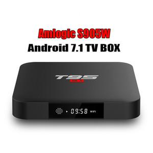T95 S1 TV BOX S905W Dört Çekirdekli Akıllı Kutu 1GB 8GB Android 7.1 Media Player 2.4G WIFI 4K 1080P DAHA İYİ TX3 X96 X92 MİNİ