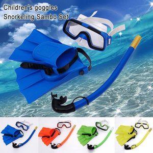 Children Diving Mask Set Anti-Fog Swimming Goggle Masks Snorkel Fins Kit for Kids Boys Girls YS-BUY SS-18