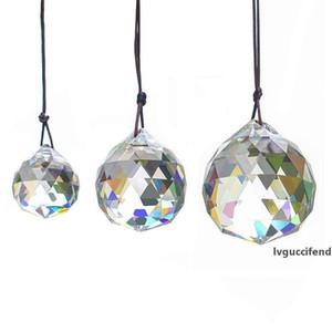 30мм Crystal Ball Призмы Подвеска ограненный кристалл стеклянные призмы Потолочный светильник Освещение висячие люстры падения шариков Декор Свадебный