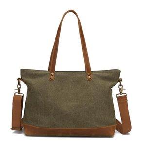Autunno nuovo casuale messenger bag in pelle crazy horse tote bag borsa di tela delle donne