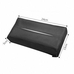 New Car PU tecido de couro Box Sunvisor Braço Cadeira Caixa Voltar Tissue Holder Toalha Capa de papel Caso Auto Acessórios rações SCTM #