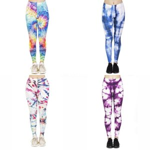 Multicolore Yoga Encre Leggings Femmes Bubble Igh Waisted froncé Butt Lift texturé Scrunch Booty Collants Pantalon de yoga Sport # 997