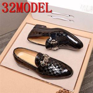 Italy luxurious Banquet Shoes Men Dress Shoe Plus Size Special Grain Leather Shoes Classic Designer Wedding Party Flats Shoes Size 38-45