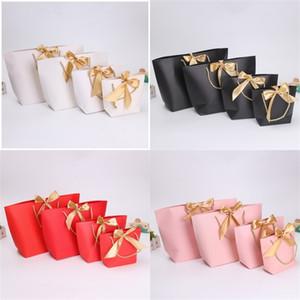 Sacs riche en papier couleur avec poignées Sac d'emballage cadeau de mariage fête d'anniversaire Faveur Bonne recherche Jolie 1 45sy E2