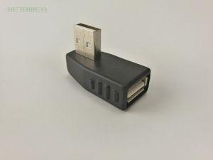 200 Stück Großhandel USB 2.0 männliche und weibliche Linkskurve Stecker Jack M / F-Wandler Adapterstecker, geeignet für Notebooks und l