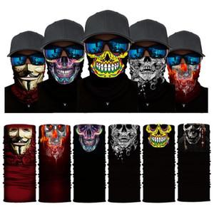 Yeni Kafatası Yüz Maske Doğa Sporları Kayak Bisiklet Motosiklet Eşarplar Bandana Boyun Snood Cadılar Bayramı Partisi Cosplay Tam Yüz Maskeleri WX9-65