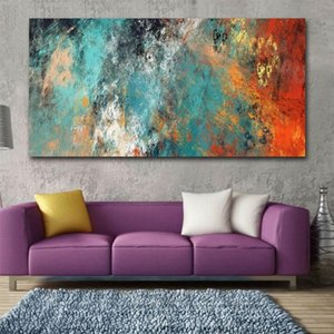 Grande Abstract Wall Art coloridas nuvens pintura a óleo em tela Pôsteres Impressões retratos da parede para Sala Cuadros decoração home moderna