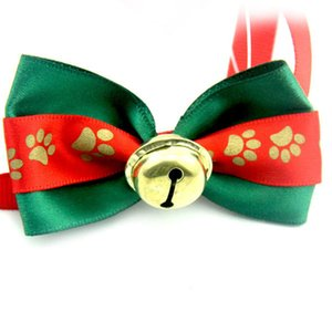 1cm Christmas Series Dog Tie Dog Collar With Bell Puppy Accessories Pet Bow Tie