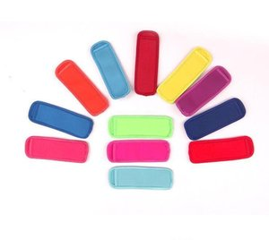 High quality Popsicle Holders Pop Ice Sleeves Freezer Edge Covering 18cmX6cm Neoprene Waterproof for Kids Summer Kitchen Tools LXL227xqw6#