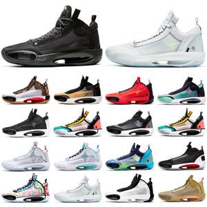 Jumpman 34 chaussures de basket-ball pour hommes 34s Eclipse Croustillant Bred Black Cat Bayou Garçons Ambre Lève Orbite rouge infrarouge 23 hommes sport espadrilles
