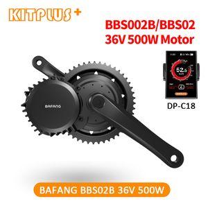 KITPLUS New Bafang 36V Electric Drive Motor 500W 8Fun Mid Kit de conversion BBS02 BLDC brushless Ebike Bike