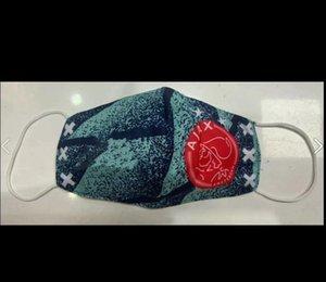 AJAX Fußball Maske Baumwolle nachhaltige Nutzung austauschbare Einwegmasken Großhandel Fußballmannschaft Club Protect Fußball Maske flamengo