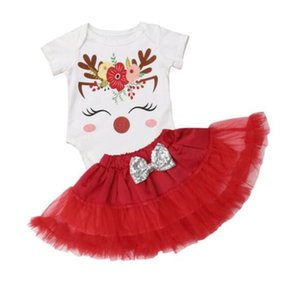 Ins New children's Baby Dress Set gauze skirt two piece flower print set christmas new 2020