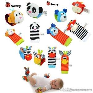 Toptan-Bebek Çıngırak Oyuncak Bilek Ayak Bulucu Küçük Yumuşak Baby Boy Toy 0-12 Ay Çocuk Bebek için Yenidoğan Peluş Çorap Brinquedos