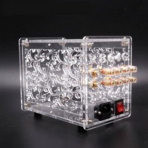 Freeshipping Acrylic Chassis Enclosure For FU32 Vacuum Tube Amplifier Preamplifier Case Box Vintage Hifi Audio DIY 1 Set