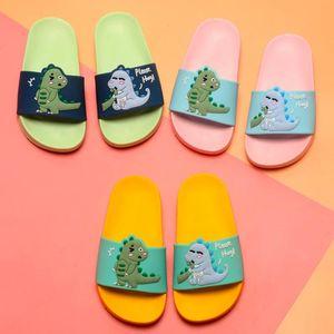 SIKETU Cute Dinosaur Slippers For 2-6Years Old Boys Girls 2020 Summer New Kids Beach Shoes Children Soft Indoor Slippers Sandals