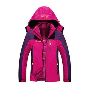 Outdoor-Jacken Damen Wandern Sking Klettern Winter 3in1 Hood Detach Windjacke Warme Schöne Wasserdicht Thermal