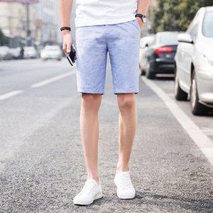 Lauf Leinen koreanischen Sommer-Kurzschluss-Mann-beiläufige Armee Steampunk Tech Wear Anzug Cotton Compression Modis Herrenmode 70DK014 XU8E #
