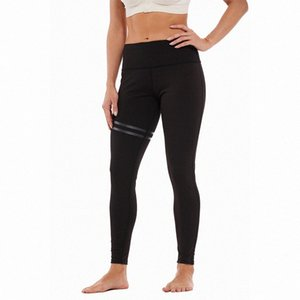 das mulheres Striped Elastic impressa offset Yoga Pants Leggings CELC #