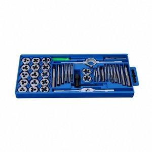 40pcs Tap Die Set M3-M12 Tornillo rosca métrica Taps Llave Dies kit de bricolaje llave de tornillo que rosca Herramientas manuales aleación de metal con bolsa LN0E #