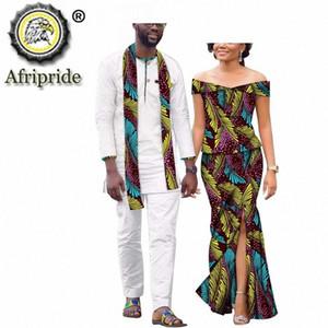 Vêtements africaine pour un couple Dashiki Imprimer Tenues Hommes Costume et femmes Maxi robe de soirée de mariage pour AFRIPRIDE S20C008 R3Dl #