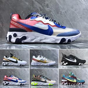 2019 React Element 87 55 running shoes for men women white black Royal Tint Desert Sand Designers breathable sports sneaker size 36-45 H-DC2