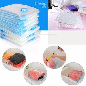 5pcs lot Vacuum Bags For Clothes Luggage Organizer Clothing Storage Bag Transparent Large Compressed Zip Lock Plastic Bag T200710