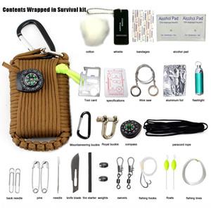 w06JU Wild Mountaineering fishing equipment kit quick-hanging multifunctional tool Wild Tool toolboxMountaineering buckle toolbox survival f