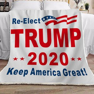 Trump 2020 KEEP AMERICA GREAT Printed Blanket Winter Double Thick Blanket square Boutique blanket 130*150cm President election D73003