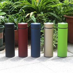 في سوق الأسهم 500ML السفر القدح الفولاذ المقاوم للصدأ الشاي المساعد على التحلل زجاجة الحياة المحمولة زجاجة المياه مع مصفاة القهوة البهلوان