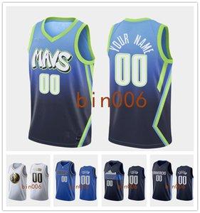 Individuelles DallasMavericksMänner Frauen Jugendliche Stickerei 100% CITYNBA Verband Statement Icon Basketball Trikot S-6XL