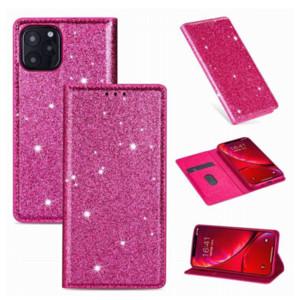 Caso del brillo cuero del teléfono para el 11 Pro X XR XS Max 6 7 8 Plus de Samsung Galaxy S20 Ultra magnética de atracción tirón la cubierta del soporte del iPhone