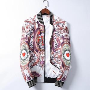 Men's Medusa Jacket Long Sleeve Zip Hooded Jacket Men's Fashion Floral Pattern Print Outdoor Streetwear Windbreaker Winter Casual Jacket Sma